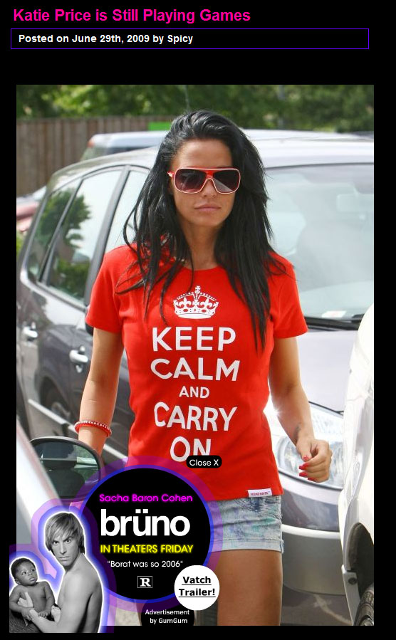 Katie Price, Keep Calm and Carry On