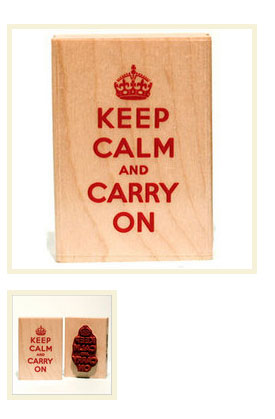 "Rubber Soul ""Keep Calm and Carry On"" Stamp"