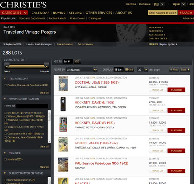 Christies Poster Auction